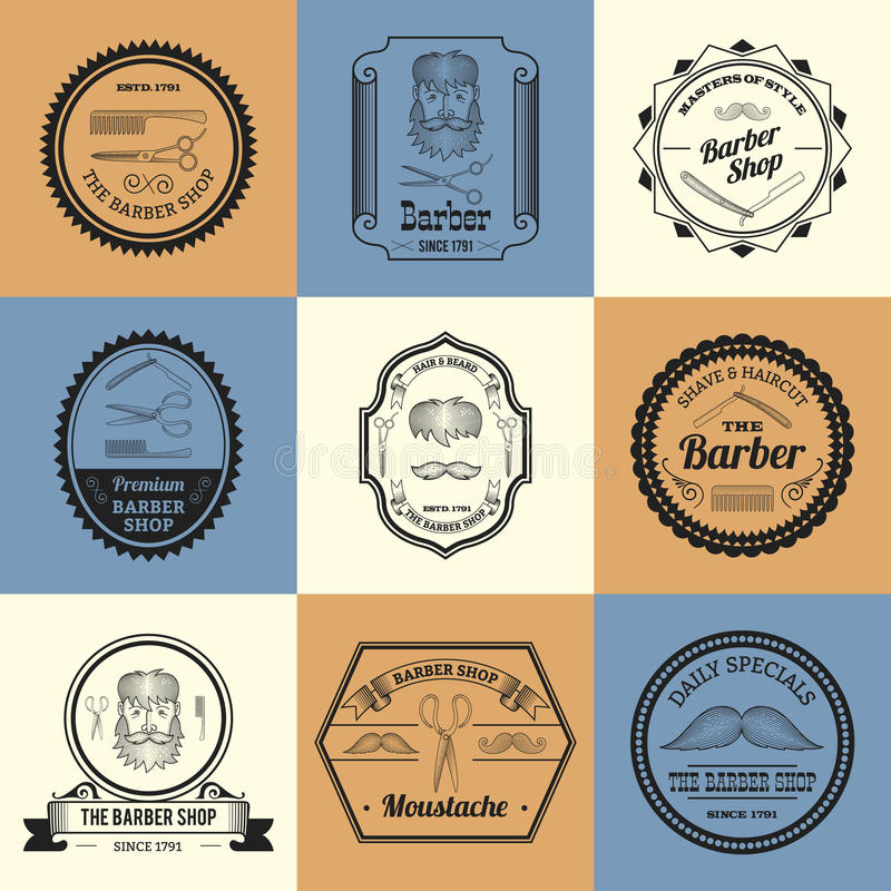 Barber Shop Logos libre illustration