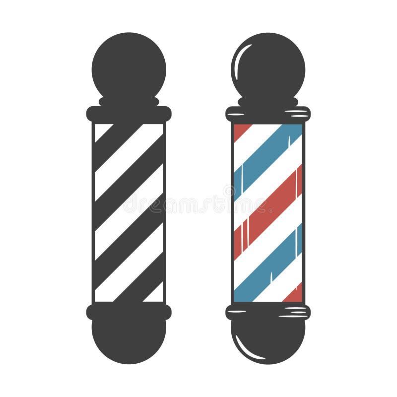 Barber Shop Pole. Vintage set. Vector. stock illustration