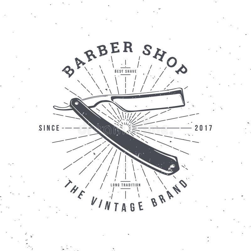 Barber shop razor royalty free illustration