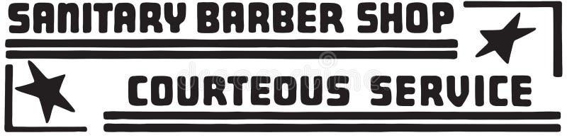 Barber Shop sanitária ilustração stock