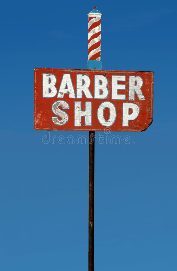 Barber shop sign stock photography