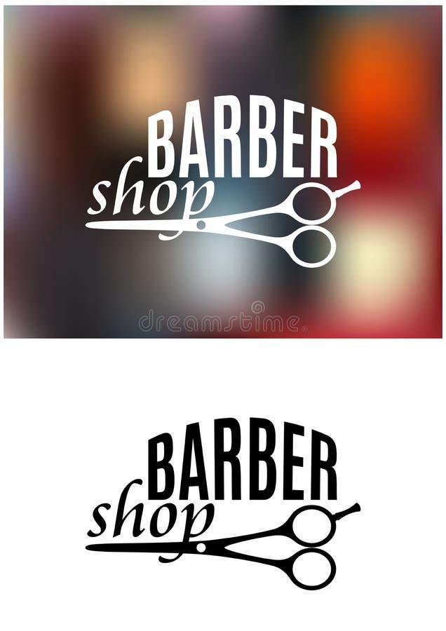 Barber shop sign design royalty free illustration