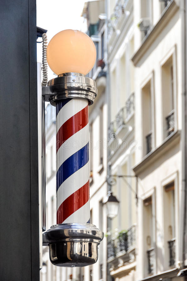 Barber shop sign in Paris. France royalty free stock photos