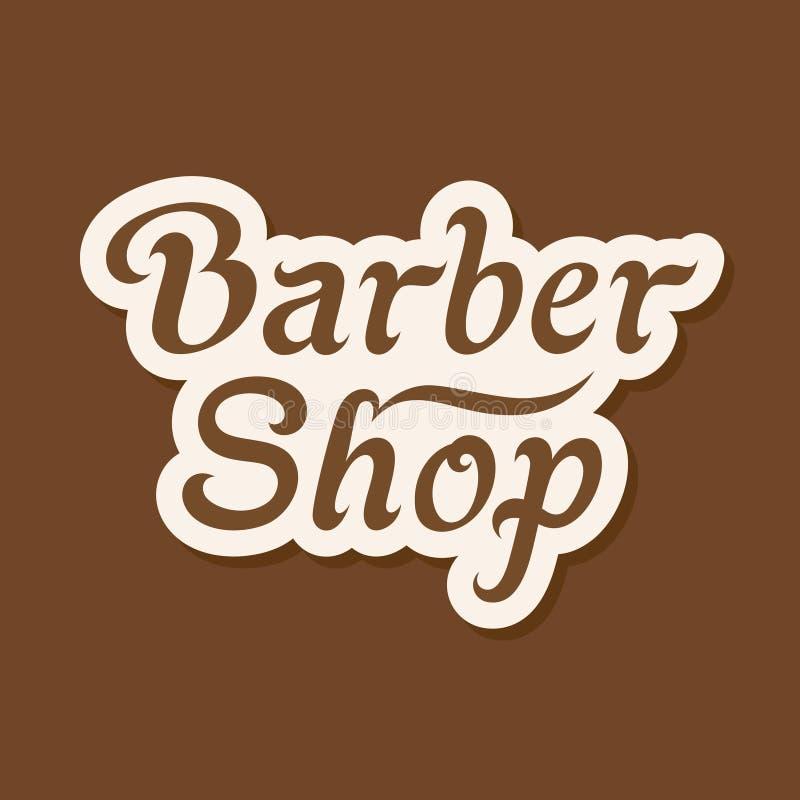 Barber Shop Signboard illustrazione vettoriale