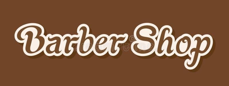 Barber Shop Signboard illustrazione di stock