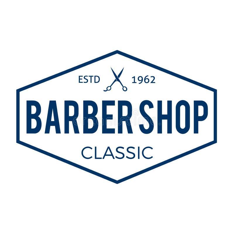 Barber Shop Typographic Hipster Badge royalty illustrazione gratis