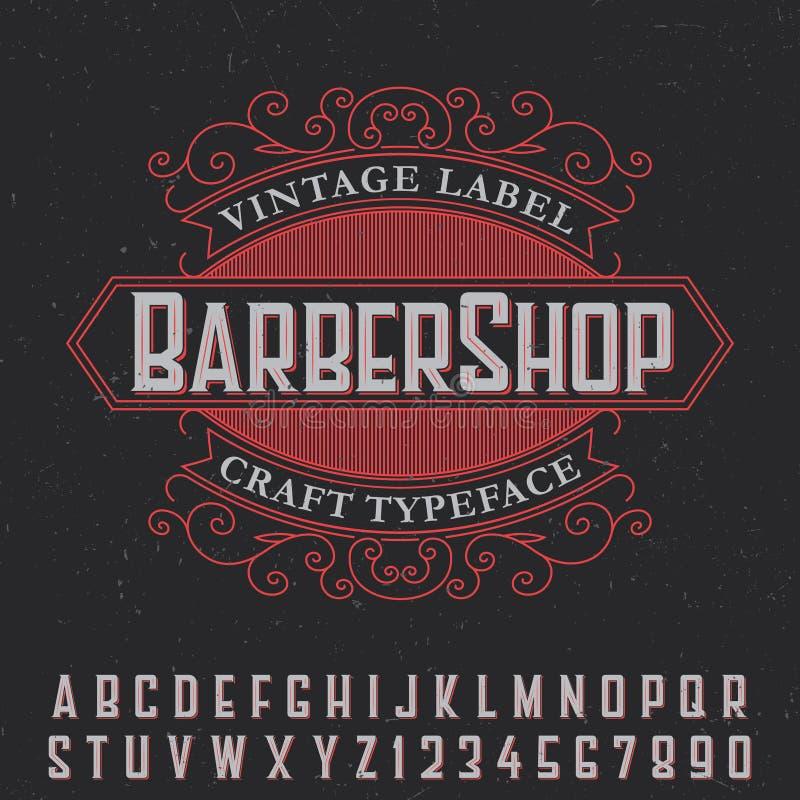 Barber Shop Vintage Label Poster ilustración del vector