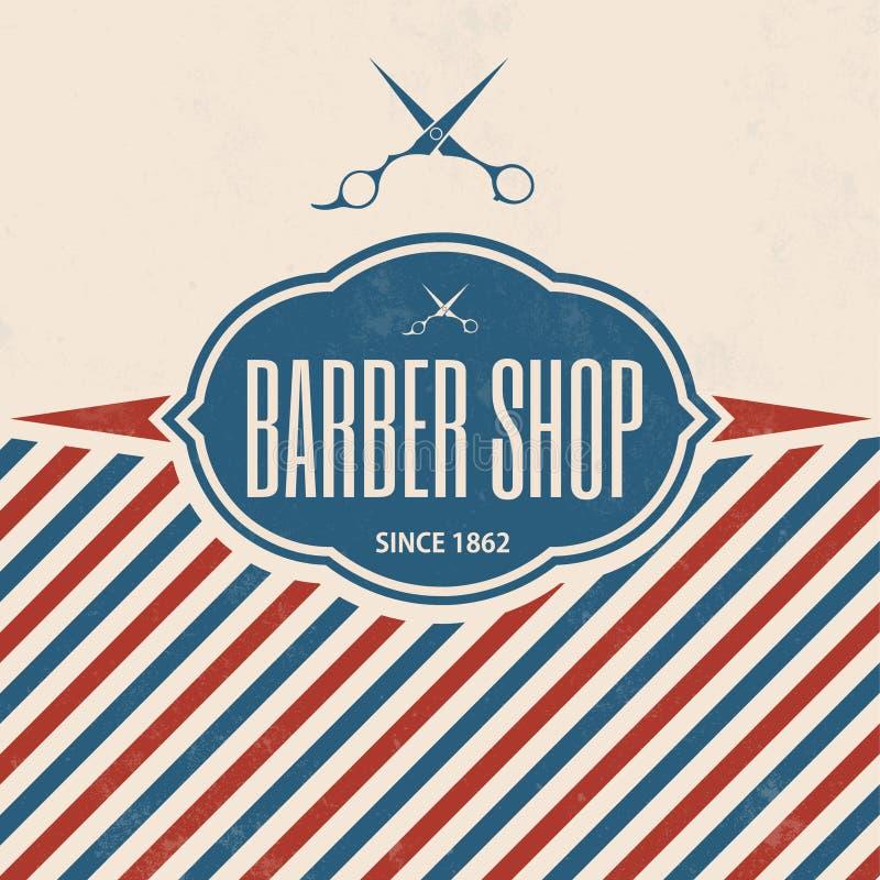 Barber Shop Vintage Template retro ilustração stock