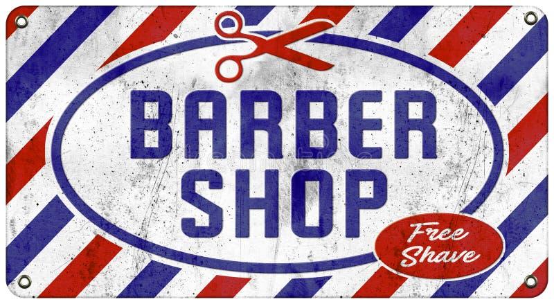 Barber Shop Vintage Tin Sign royalty-vrije illustratie