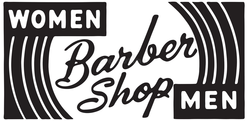 Barber Shop Women Men ilustração stock