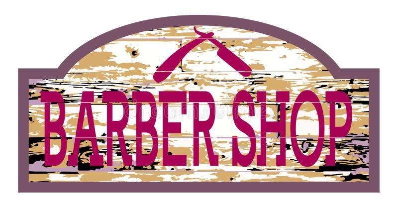Barber Shop Wooden Store Sign gastada libre illustration