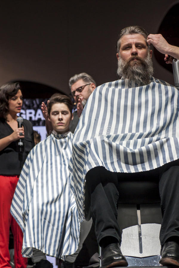 Download THE BARBER SHOW, COSMOBELLEZA 2014 Editorial Stock Image - Image: 38648669