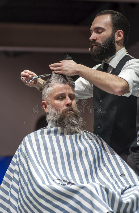 Download THE BARBER SHOW, COSMOBELLEZA 2014 Editorial Stock Image - Image of hairstylist, professional: 38661504