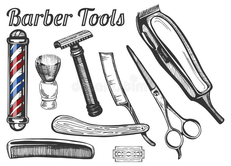 Barber Tools Set royalty illustrazione gratis