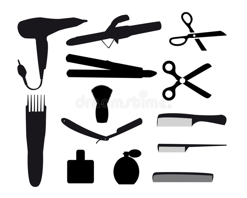 Barber tools. On a white background royalty free illustration