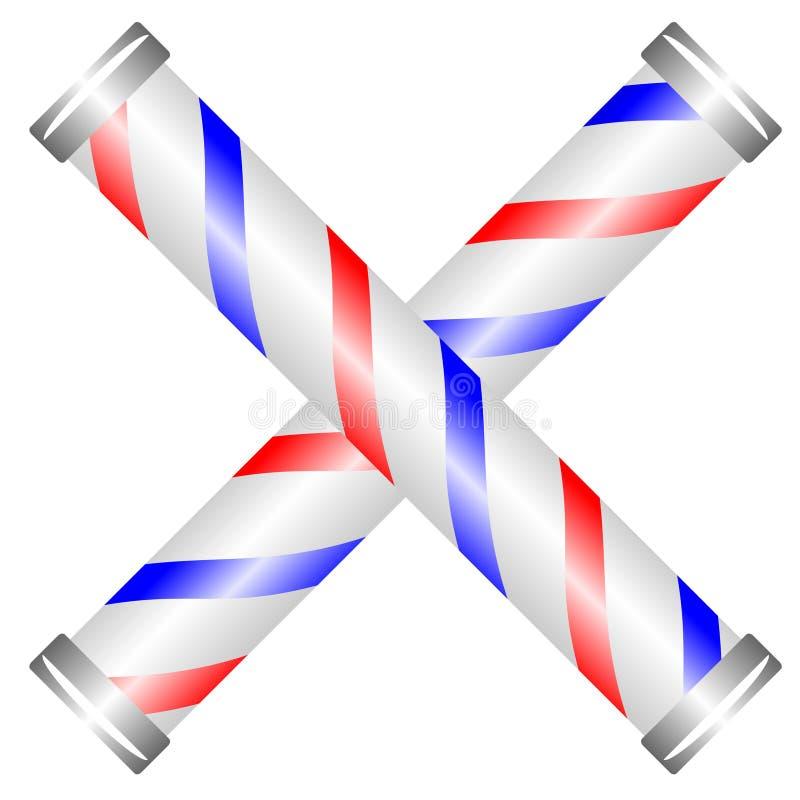 barberare korsade poler royaltyfri illustrationer