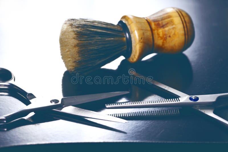 Barberarehjälpmedelslut upp royaltyfri bild