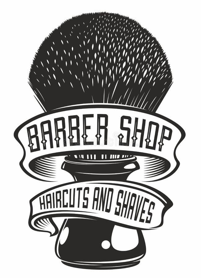 Barberaren shoppar logo stock illustrationer