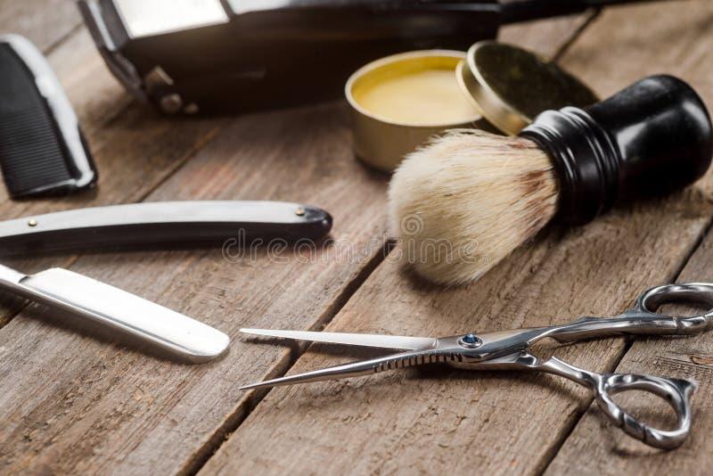 Barberaresax på träyttersida arkivbilder