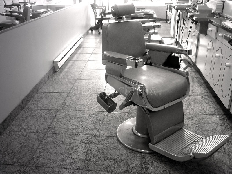 barberarestol royaltyfria foton