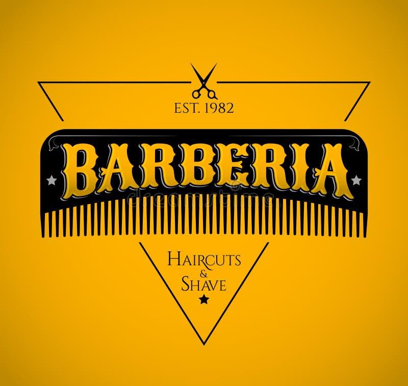 Barberia,理发店西班牙人文本 向量例证
