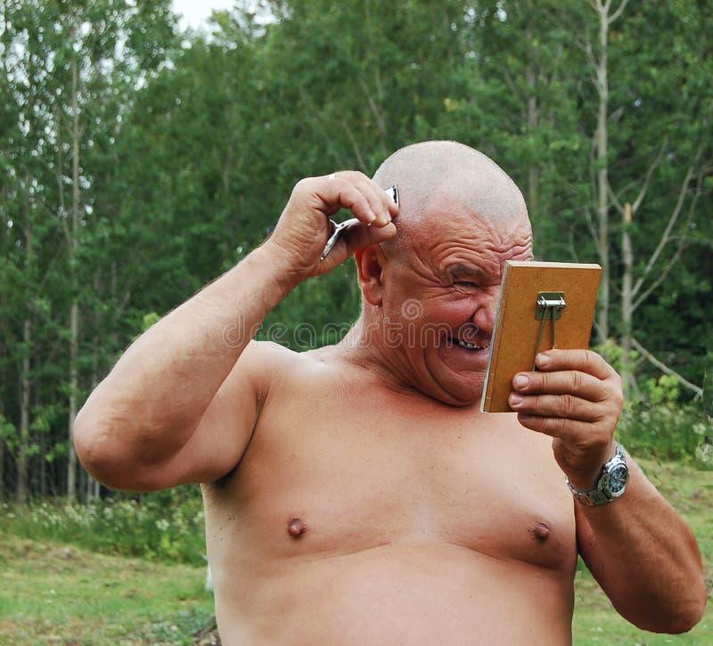 barbering человек стоковая фотография