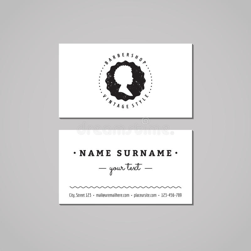 Barbershop Business Card Design Concept. Barbershop Logo-badge With ...