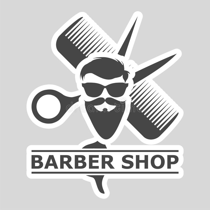 Barbershop Logo, Barber shop icon, simple icon royalty free illustration