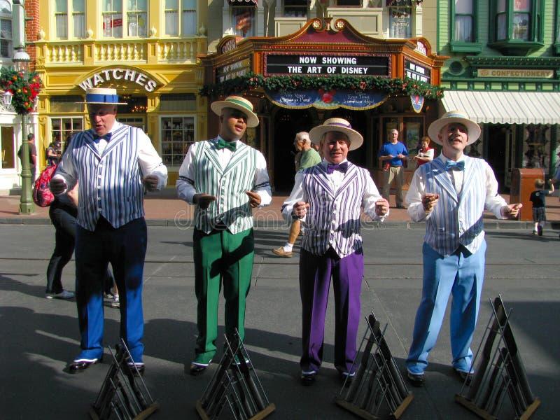 Barbershop Quartet at Disneyworld royalty free stock photos