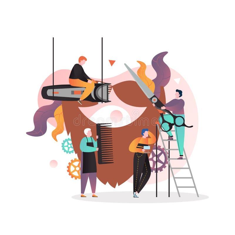 Barbershop vector concept for web banner, website page stock illustration