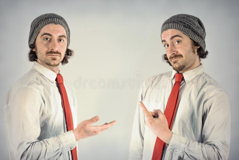 Barbes d'hommes de jumeaux photo stock