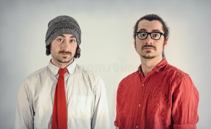 Barbes d'hommes de jumeaux images libres de droits