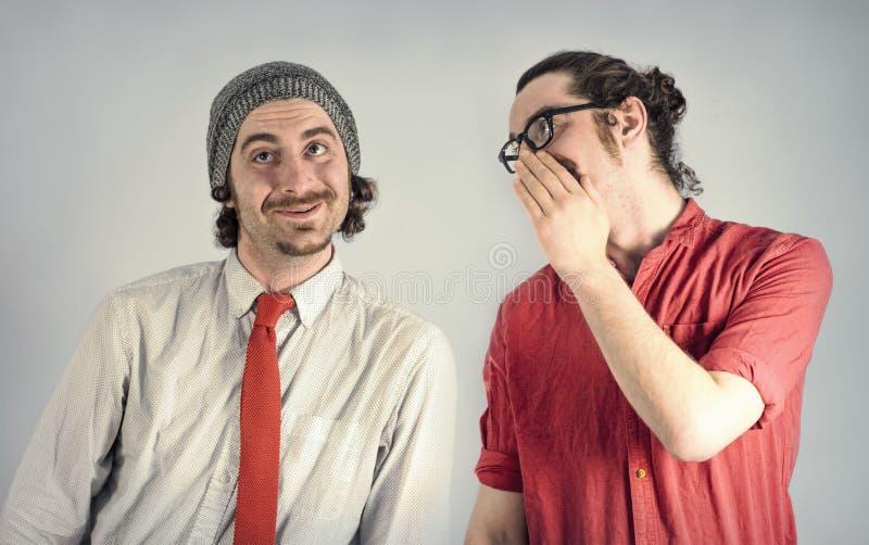 Barbes d'hommes de jumeaux photos libres de droits