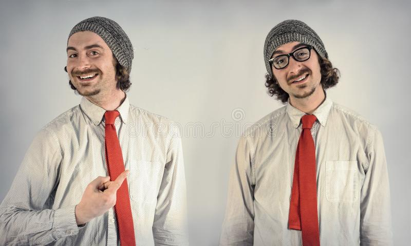 Barbes d'hommes de jumeaux image libre de droits