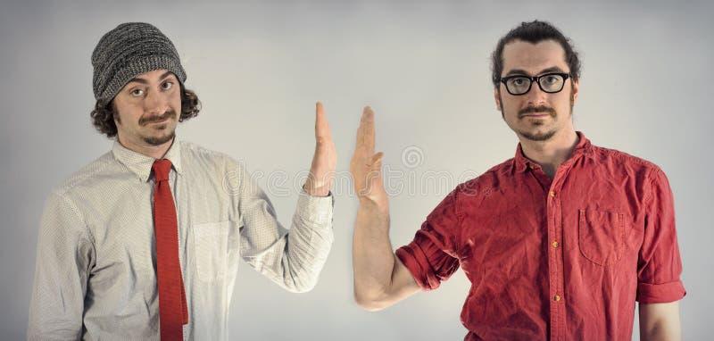 Barbes d'hommes de jumeaux images stock