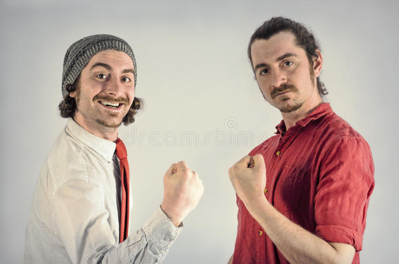Barbes d'hommes de jumeaux photo libre de droits