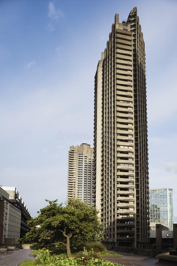 barbican πύργος ομάδων δεδομένων στοκ εικόνα
