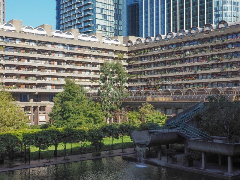 Barbican centre in London stock photo