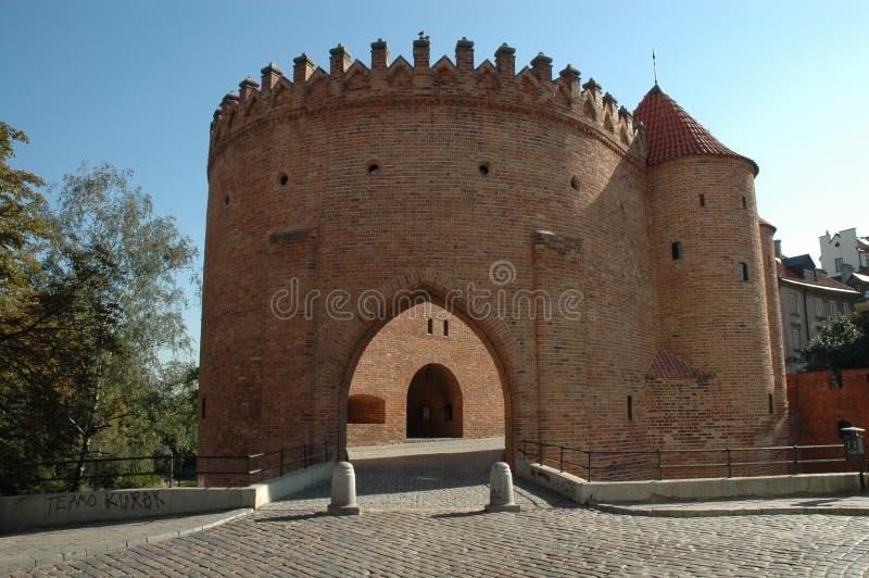 Barbican de Varsóvia imagem de stock royalty free