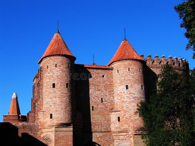 Barbican - fortification velho em Varsóvia foto de stock