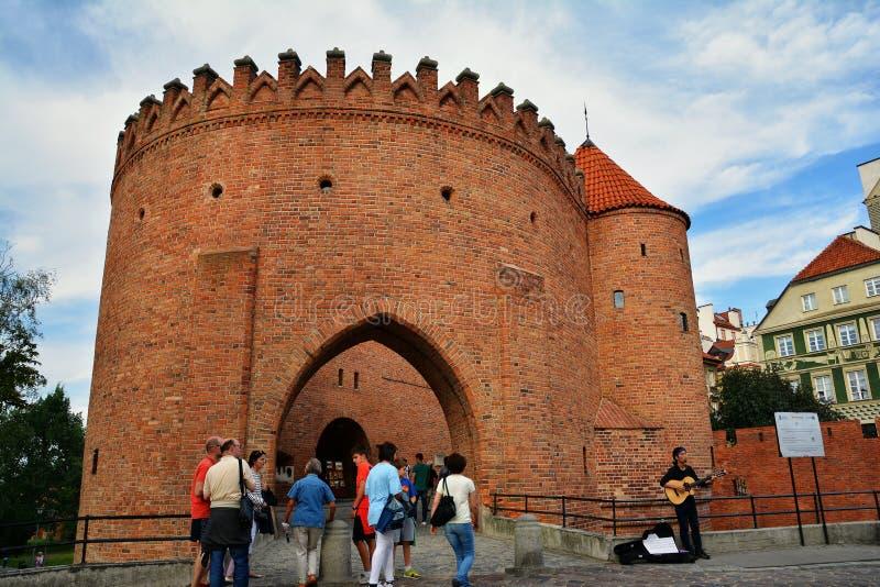 Barbicon di Varsavia fotografia stock libera da diritti