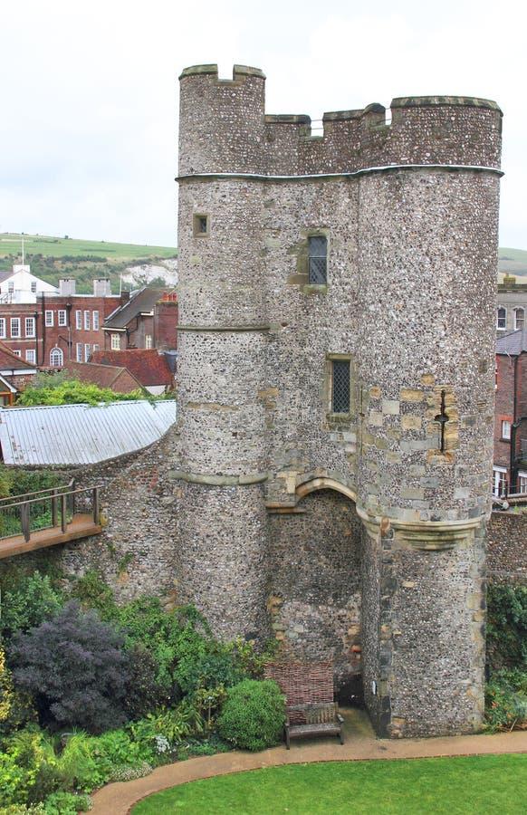 Barbicon van Lewes-Kasteel royalty-vrije stock fotografie