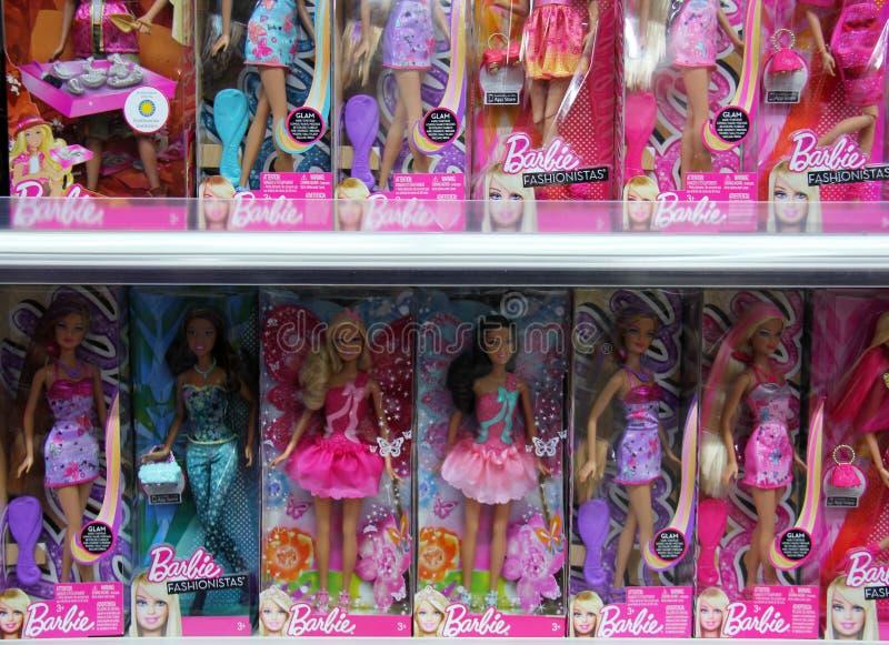 Barbie in deposito fotografie stock