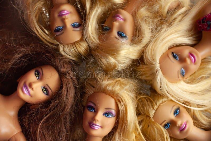 Barbie Doll Collection imágenes de archivo libres de regalías