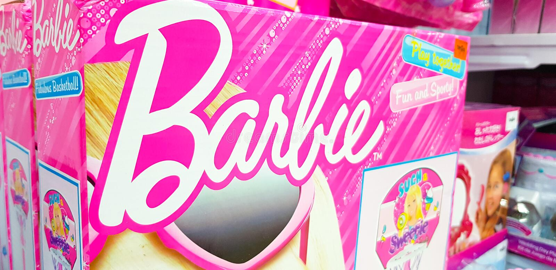 Barbie joue le logo images stock