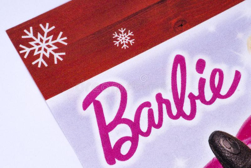 Barbie Logo en un catálogo fotografía de archivo libre de regalías