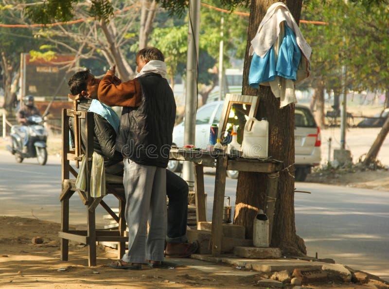 Barbiere del bordo della strada fotografia stock