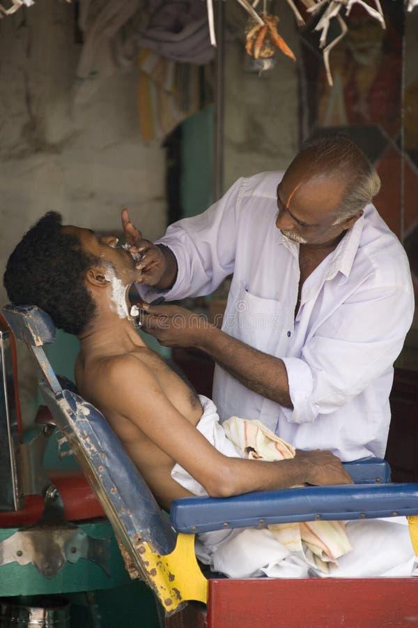 Barbiere indiano - Srirangam - India fotografia stock libera da diritti