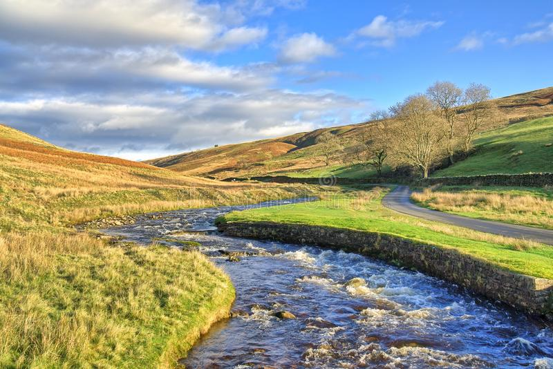 Barbon Beck, a stream near Kirkby Lonsdale. Barbon Beck, a stream near Kirkby Lonsdale, Cumbria, North West England royalty free stock photography