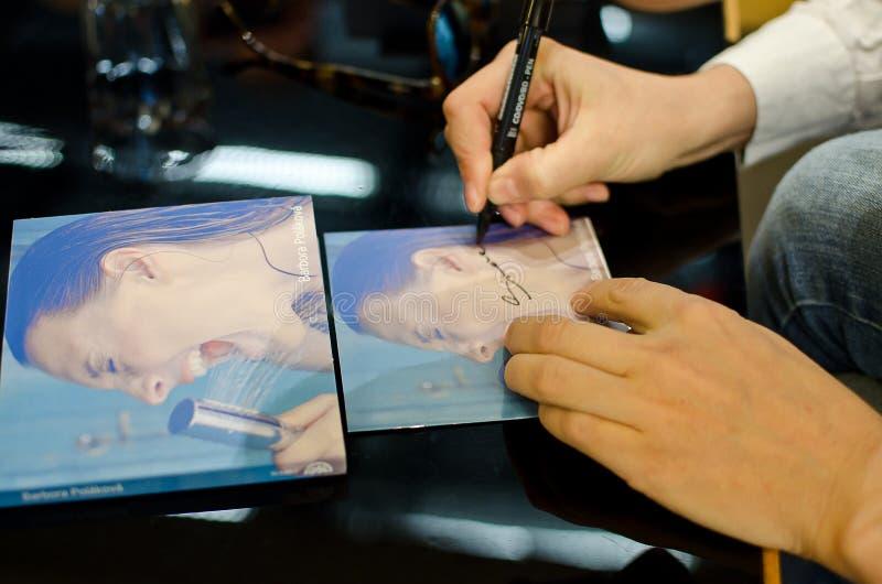 Barbora Polakova autografa fotografia stock libera da diritti